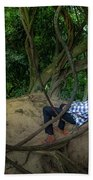 Cambodian Jungle Swing Beach Towel