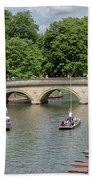 Cambridge Punting On The River Beach Towel