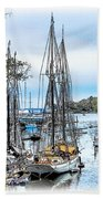 Camden Bay Harbor Beach Towel