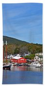 Camden Harbor Beach Towel by Corinne Rhode