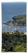 Camden Harbor Maine Beach Towel