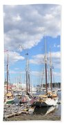 Camden Maine Harbor Beach Towel