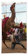 Camel Dance Pushkar Beach Towel
