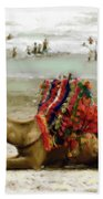 Camel For Ride  Beach Towel