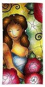 Camellia Lady Beach Towel