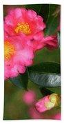 Camellia Pink Beach Towel