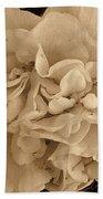 Camellia Sepia Beach Towel