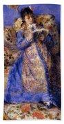 Camille Monet Reading 1872 Beach Towel