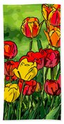 Camille's Tulips Beach Towel