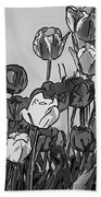 Camille's Tulips - Version 4 Beach Towel