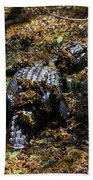Camouflage Beach Towel by Carol Groenen