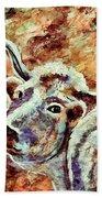 Camouflage Cow Art Beach Sheet