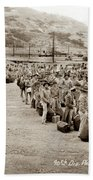 Camp San Luis Obispo Army Base 40th Division Photo 143rd Field Artillery 1941 Beach Towel