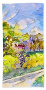 Campagne Des Pyrenees Beach Towel