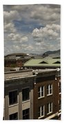 Campbell Avenue Rooftops Roanoke Virginia Beach Towel