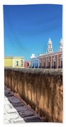 Campeche Wall And City View Beach Towel