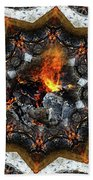Campfire Flame Beach Towel