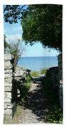 Cana Island Walkway Wi Beach Towel