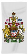 Canada Coat Of Arms Beach Towel