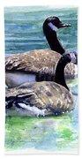 Canada Geese Beach Towel