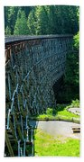 Canada National Historic Wooden Trestle- Kinsol Trestle Near Shawnigan Lake, Bc Canada. Beach Towel