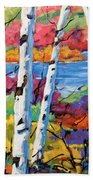 Canadian Birches By Prankearts Beach Towel