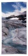 Canadian Rockies Glacier Beach Towel