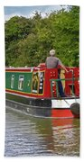 Canal Boat Beach Towel