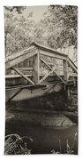 Canal Bridge At Washingtons Crossing Beach Sheet