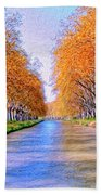 Canal Du Midi Beach Towel