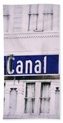 Canal Street In The Big Easy Beach Towel