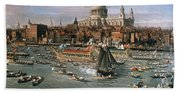 Canaletto: Thames, 18th C Beach Towel