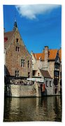 Canals Of Bruges Beach Sheet