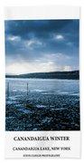 Canandaigua Lake Winter Beach Towel