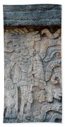 Cancun Mexico - Chichen Itza - Mosaic Wall Beach Towel