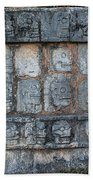 Cancun Mexico - Chichen Itza - Skull Platform Beach Towel