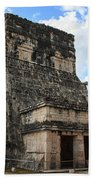 Cancun Mexico - Chichen Itza - Temples Of The Jaguar On The Great Ball Court Beach Towel