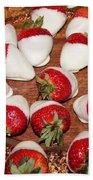 Candied Strawberries Beach Towel