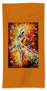 Candle Fire  Beach Towel