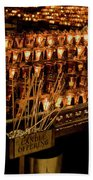 Candle Offerings St. Patrick Cathedral Beach Towel