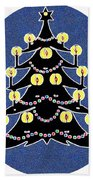 Candlelit Christmas Tree Beach Towel