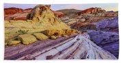 Candy Cane Desert Beach Towel