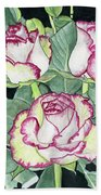 Candy Cane Roses Beach Towel