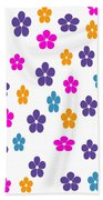 Candy Flower Bright Beach Towel