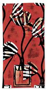 Candy Stripe Tulips 2 Beach Towel