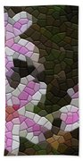 Candy Striped Phlox Beach Towel