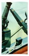 Cannon And Anchor Beach Towel