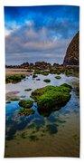 Cannon Beach Beach Towel by Rick Berk