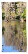 Canoeing On The Hillsborough River Beach Towel