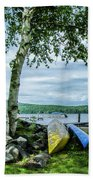 Canoes  Beach Towel